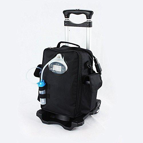 coxtod batteriebetrieben tragbaren Sauerstoffkonzentrator Generator Home Auto Travel mit Cart Sauerstoff Making Maschine (Cart Kunststoff-verstellbarer)