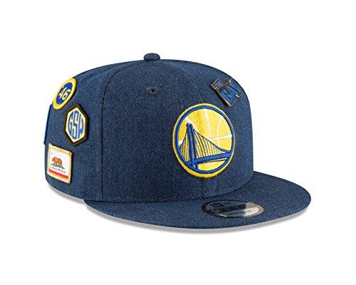 New Era Golden State Warriors 2018 NBA Draft 9FIFTY Snapback Cap Blue Denim, One Size