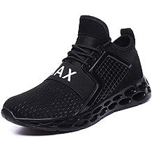 bf294ebef94ab Flarut Zapatillas de Running Padel para Hombres Zapatos Deportivas Gimnasio Correr  Deportes de Fitness Casual Sneakers