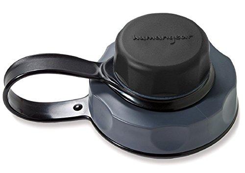 humangear Flaschendeckel 'capCAP' - für Hals Ø 5,3 cm, schwarz, Nicht geeignet für die Nalgene Silo 1,5L Flasche (Weithals-einsätze)