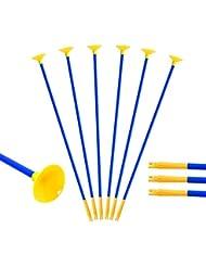 Toparchery Pfeile mit Saugnapf für Pfeil und Bogen Set Kinder zum Bogenschießen 10 Ersatzpfeile Pfeile für Kinderbogen