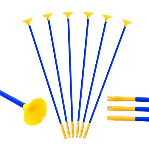 t Saugnapf für Pfeil und Bogen Set Kinder zum Bogenschießen 10 Ersatzpfeile Pfeile für Kinderbogen (60CM) ()