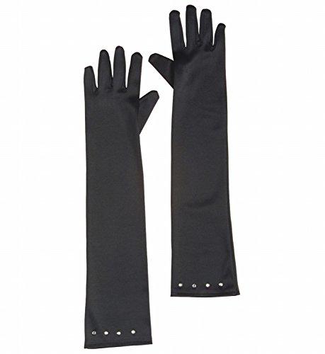 Widmann 34473 - Lange schwarze Handschuhe Glamour aus -