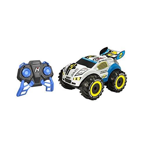 Nikko nano vaporizr voiture radiocommandée blanche et bleue