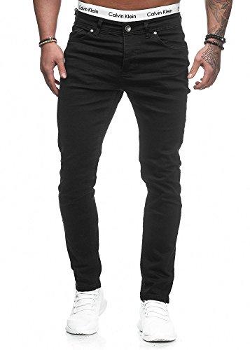 Code47 Herren Designer Chino Jeans Hose Basic Blau/Schwarz/Grau Stretch Jeanshose Slim Fit W28-W36