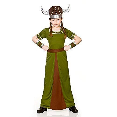 Mädchen Historische Wikinger Kostüm (8-10 Jahre) - Historische Kostüme