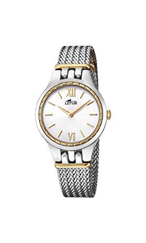Lotus Watches Femme Analogique Classique Quartz Montre avec Bracelet en Acier Inoxydable 18447/1