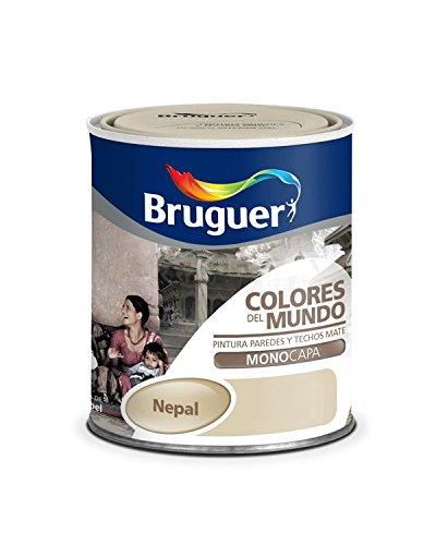 Bruguer-Pintura Colores del mundo Nepal matiz de Beige 750 ml
