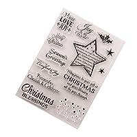 3 قطع طوابع عيد الميلاد السيليكون قابلة لإعادة الاستخدام عيد الميلاد ختم واضح موضوع عيد الميلاد ختم لألبوم الصور وصنع بطاقة يوميات