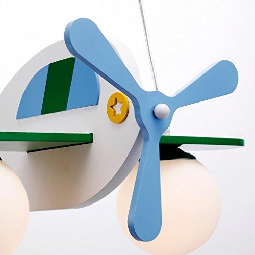 Kinderzimmerlampe Jungen-Mädchen-Schlafzimmer-Leuchter einfach und schön Cartoon Flugzeug Schlafzimmer Lichter - 3