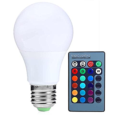 INLIFE E27 Bayonet Base LED Bulb, 3 W 300LM 16 RGB Colors Changing Dimmable Light with Remote