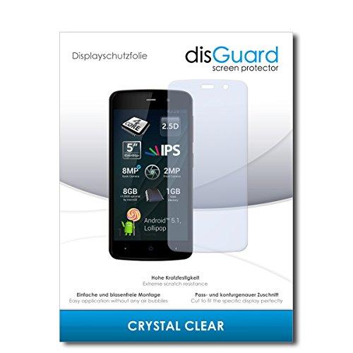 disGuard® Displayschutzfolie [Crystal Clear] kompatibel mit Allview P6 Lite [3 Stück] Kristallklar, Transparent, Unsichtbar, Extrem Kratzfest, Anti-Fingerabdruck - Panzerglas Folie, Schutzfolie