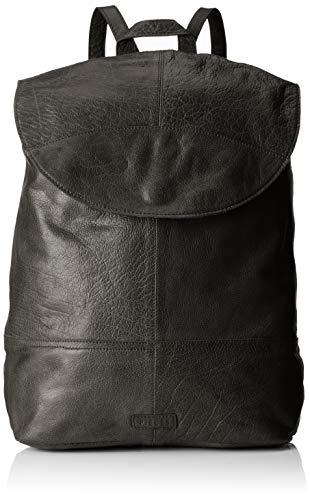 PIECES Damen Pctyra Leather Backpack Rucksackhandtasche, Schwarz (Black), 16x32x37 cm