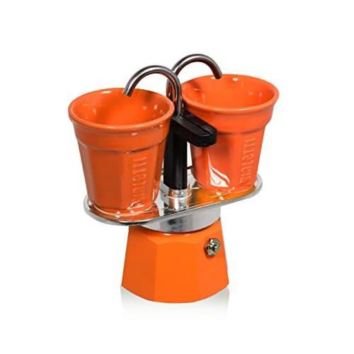 41GCTVzvSyL. SS500  - Bialetti Set Mini Express with 2 Espresso Cups, Aluminium, Orange, 30 x 20 x 15 cm