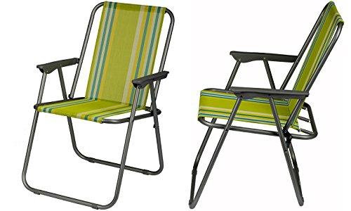 Klappsessel - Gartenstuhl - einfach zusammenklappbar - praktischer Klappstuhl, Farbe:gelb