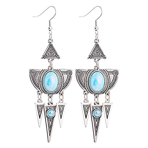 Always insist on success Ohrringe Vintage Ethnische Ohrringe Dreieckige Quaste Anhänger Stil Elegante Ohrringe Charm weiblich Mädchen Geburtstag -