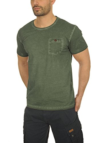 !Solid Teil Herren T-Shirt Kurzarm Shirt Rundhalsausschnitt Brusttasche Aus 100% Baumwolle Climb Ivy (3785)
