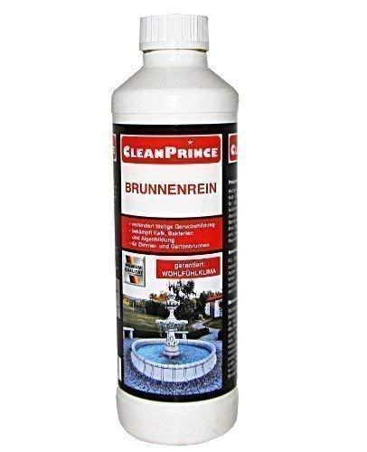 CleanPrince Brunnenrein 500 ml Algen Wasserklärung Schlamm reinigen Brunnen Reiniger Reinigungsmittel reinigen Brunnenreiniger Brunnenklar Brunnenfresh Brunnensauber