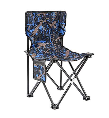 Blaue Strand-klapp-stühle (Uygdygheiftadfrfiu Im Freien tragbarer faltender einfacher Stuhl des Kunstskizzenstuhls des Strandes Rückseitenhocker Multi optional (Farbe : Blau, größe : XXL))