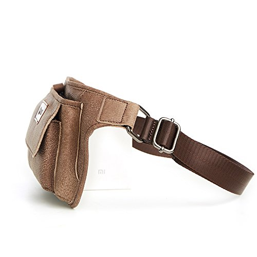 Joyir Genuine Leather Bum Bag Belt Pouch Purse Vintage City Leisure Weekend Party Festival Bag Brown Small Brown Unisex Brown Color