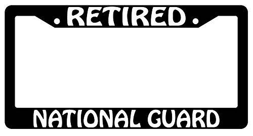 Blaue National Guard (DIY Rine 30,5 x 15,2 cm Aluminium Metall Kennzeichenrahmen Humor Kennzeichenrahmen Abdeckung Halter Auto Tag Rahmen 2 Loch Schrauben, Retired National Guard)