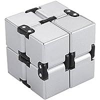 Fidget Cube Decompression cube juguetes educativos para adultos juguetes de la descompresión de la EDC de la caja infinita juguetes ansiedad y reductor de la tensión para el adulto y los niños (plata)
