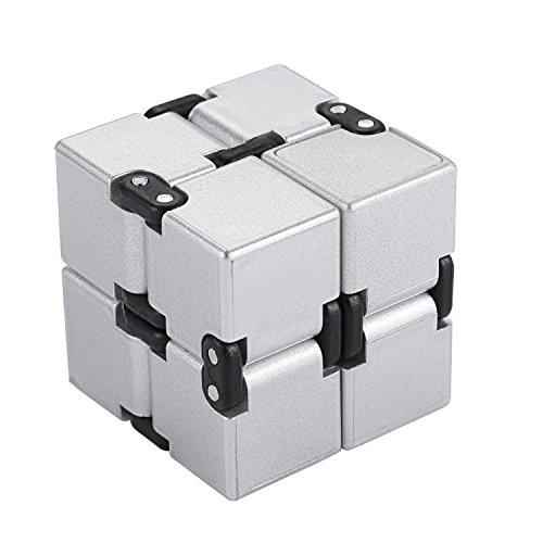 EKKONG Fidgeting di edc di novità - Fidget Cube in Stile con Il cubo Infinite Cube Infinity Cube Fidget Cubo Stress Relief e Ansia Giocattolo per Bambini e Adulti (Argento)