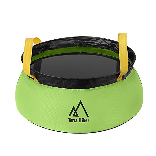 Terra Hiker Collapsible Water Bucket, Leak-proof Water Tank, Multifunctional Wash Basin for Camping, Traveling, 10 L
