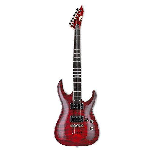 LTD Guitars & Basses MH-100QM NT STBC- Guitarra eléctrica
