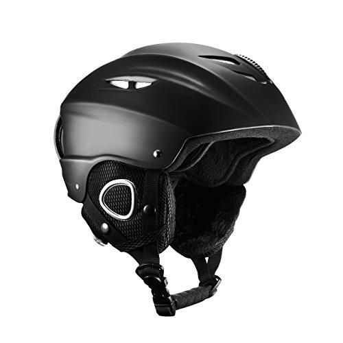 Mpow Skihelm, Snowboardhelm, Skate Helmet, aus ABS- und EPS-Material, mit Steuerbarer Belüftung, Samt-Ohrenschützer und Futter, Skibrille kompatibel, für Skifahren, Skaten, Skateboard, Radfahren
