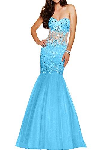 Da donna in acciaio inox a forma di cuore con fiori Ivydressing punta, applicazione in raso alto tempo abiti da sposa vestimento Blau
