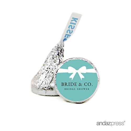 Andaz Drücken Schokolade Drop Etiketten Aufkleber Single, Tiffany & Co WEDDING BRIDE