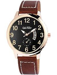 Alain Miller - Reloj de Pulsera para Hombre (analógico, con Fecha, Aspecto de