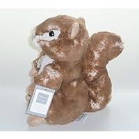 Histoire dOurs - Peluches et Doudous - Doudou Ecureuil marron chiné ventre blanc -
