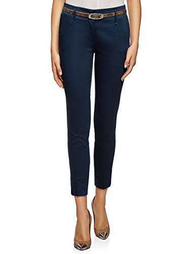 oodji Collection Femme Pantalon Chino avec Ceinture oodji Collection