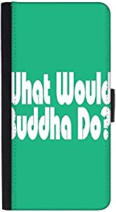 Snoogg What Would Buddha Do 2907 Designer Protective Flip Case Cover For Htc M7
