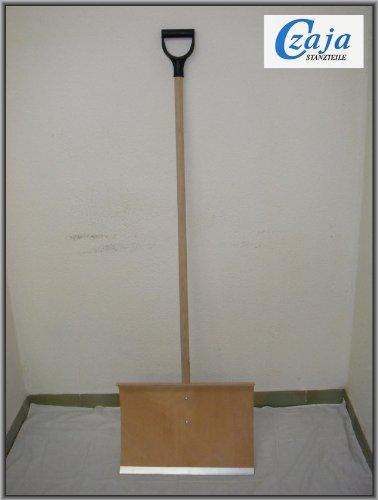 Holz Schneeschieber mit Stahlkante und D-Griff SCH 107 D