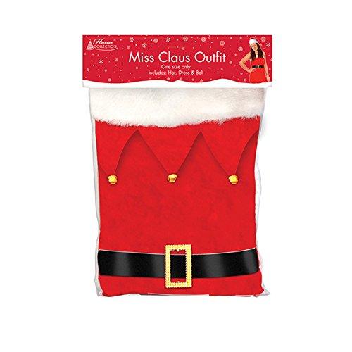 Home Collection Damen Miss Claus Christmas Kostüm (Einheitsgröße) (Rot/Weiß) (Kostüm Miss Claus)