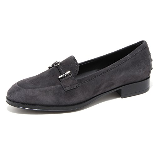 66714mocassino TOD'S DOPPIA T. PELLE scarpa donna loafer shoes women Grigio