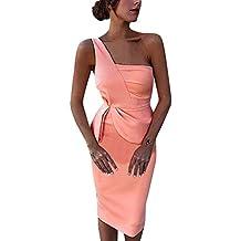 Challeng Vestido de Fiesta asimétrico Delantero del Vestido de Partido de Las Mujeres Atractivas del Hombro