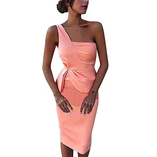 Sexy Aus der Schulter Party Kleid Damen Mode Vorderseite asymmetrisch Kleid Abendkleid