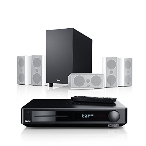 Teufel Consono 35 Impaq 5.1-Set Weiß Heimkino Lautsprecher 5.1 Soundanlage Kino Raumklang Surround Subwoofer Movie High-End HiFi Speaker