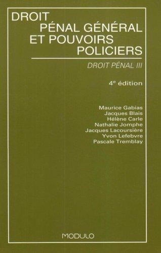 Droit penal gene.et pouvoirs policiers