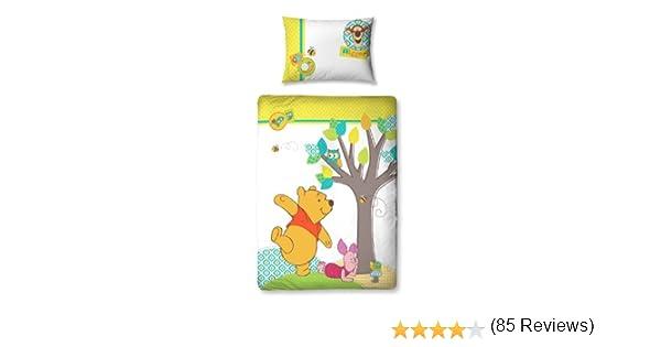 Completo copripiumino 125 x 150 cm e federa per cuscino Character World Disney Winnie the Pooh Forest colore