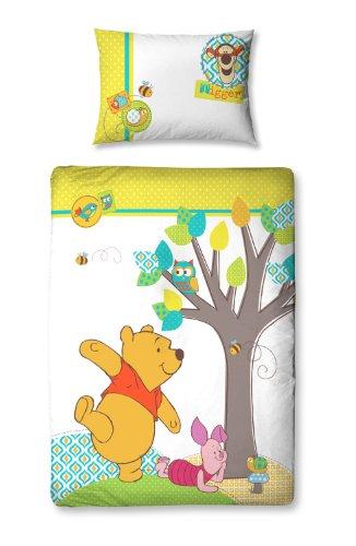 Character World Disney Winnie the Pooh Forest - Completo copripiumino 125 x 150 cm e federa per cuscino, colore: Multicolore