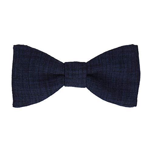 Mrs Bow Tie Isaac Textured Fliege, Selbstbinde Fliege - Navy Blau - Pretied Bow Tie