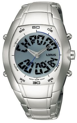 Lorus RB503AX - Reloj de Pulsera Hombre, Acero Inoxidable, Color Plateado