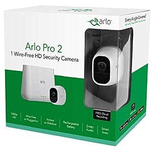 Arlo VMS4230P-100EUS Pro 2 Sistema de Seguridad y vídeo vigilancia de 2 cámaras sin Cables 1080p HD, Recargable, Interior/Exterior, Nocturna, Audio bidireccional, visión 130º, Blanco, Kit Base