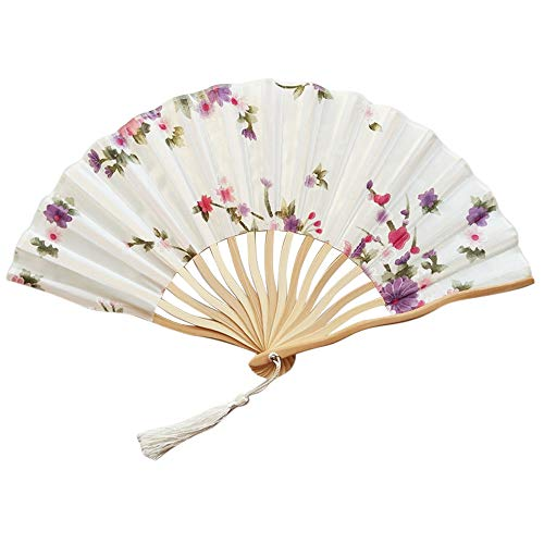 TianranRT Chinesisch Stil Hand Halten Fan Bambus Papier Falten Fan Party Hochzeit Dekor ()