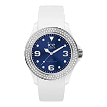 Ice-Watch - Ice Star White Deep Blue - Montre Blanche pour Femme avec Bracelet en Silicone - 017235 (Medium)